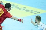 13.01.2018., Croatia, Arena Zagreb, Zagreb - European Handball Championship, Group C, Round 1, Germany - Montenegro.  LIPOVINA Vladan<br /> <br /> Foto &copy; nordphoto / Sanjin Strukic/PIXSELL