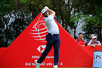 Jon Rahm (ESP) on the 3rd tee during the 1st round at the WGC HSBC Champions 2018, Sheshan Golf Club, Shanghai, China. 25/10/2018.<br /> Picture Fran Caffrey / Golffile.ie<br /> <br /> All photo usage must carry mandatory copyright credit (&copy; Golffile | Fran Caffrey)