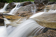 Diana's Bath in Bartlett, New Hampshire USA during the spring months. These cascades are located along Lucy Brook.