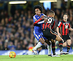 Chelsea's Willian tussles with Bournemouth's Junior Stanislas<br /> <br /> Barclays Premier League - Chelsea v AFC Bournemouth - Stamford Bridge - England - 5th December 2015 - Picture David Klein/Sportimage