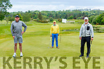 Gerry Lee, Liam McGuire and Patrick Eviston back on the green at Killarney Golf club on Monday