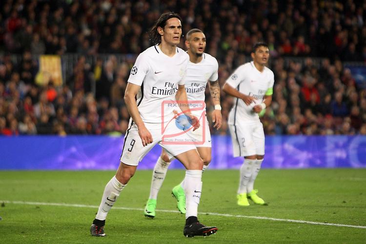 UEFA Champions League 2016/2017.<br /> Round of 16 2nd leg<br /> FC Barcelona vs Paris Saint-Germain: 6-1.<br /> Edinson Cavani.