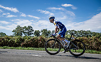 Julian Alaphilippe (FRA/Deceuninck-QuickStep)<br /> <br /> Stage 12 from Chauvigny to Sarran (218km)<br /> <br /> 107th Tour de France 2020 (2.UWT)<br /> (the 'postponed edition' held in september)<br /> <br /> ©kramon