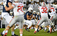 STATE COLLEGE, PA - SEPTEMBER 29: Penn State QB Trace McSorley (9) runs a quarterback draw. The Ohio State Buckeyes defeated the Penn State Nittany Lions 27-26 on September 29, 2018 at Beaver Stadium in State College, PA. (Photo by Randy Litzinger/Icon Sportswire)