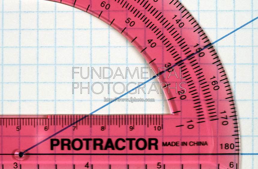 PROTRACTOR MEASURES 30' ANGLE<br /> (Variations Available)<br /> Red