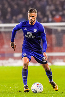 Cardiff City's defender Joe Bennett (3) during the Sky Bet Championship match between Sheff United and Cardiff City at Bramall Lane, Sheffield, England on 2 April 2018. Photo by Stephen Buckley / PRiME Media Images.