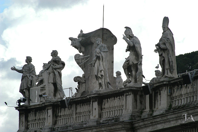 Statues in St. Peter's Piazza