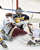 Nathan Gerbe, Jeff Healey - Boston College defeated Merrimack College 3-0 with Tim Filangieri's first two collegiate goals on November 26, 2005 at Kelley Rink/Conte Forum in Chestnut Hill, MA.