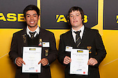 Boys Softball finalists Tamihana Nau and Matthew Oxley. ASB College Sport Young Sportsperson of the Year Awards held at Eden Park, Auckland, on November 24th 2011.