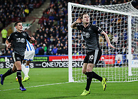 Burnley's Ashley Barnes celebrates scoring his side's second goal <br /> <br /> Photographer Andrew Kearns/CameraSport<br /> <br /> The Premier League - Huddersfield Town v Burnley - Wednesday 2nd January 2019 - John Smith's Stadium - Huddersfield<br /> <br /> World Copyright © 2019 CameraSport. All rights reserved. 43 Linden Ave. Countesthorpe. Leicester. England. LE8 5PG - Tel: +44 (0) 116 277 4147 - admin@camerasport.com - www.camerasport.com