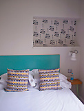 ENGLAND, Brighton, A Bedroom at the Artist Residence