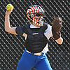 Teagan Daly #8, Kellenberg catcher, throws to second base during a CHSAA varsity softball game against Sacred Heart Academy at Greis Park in Lynbrook on Tuesday, April 11, 2017.