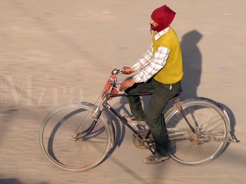 Pedal powered transportation in Varanasi, Uttar Pradesh, India