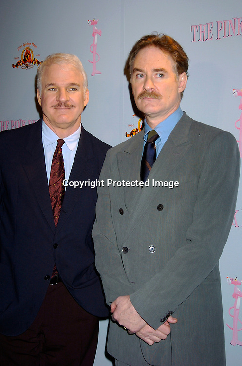 Kevin Kline and Steve Martin ..at the Pink Panther start of Production Press Conference on May 7, 2004 at the Waldorf Astoria Hotel.                    Photo by Robin Platzer, Twin Images