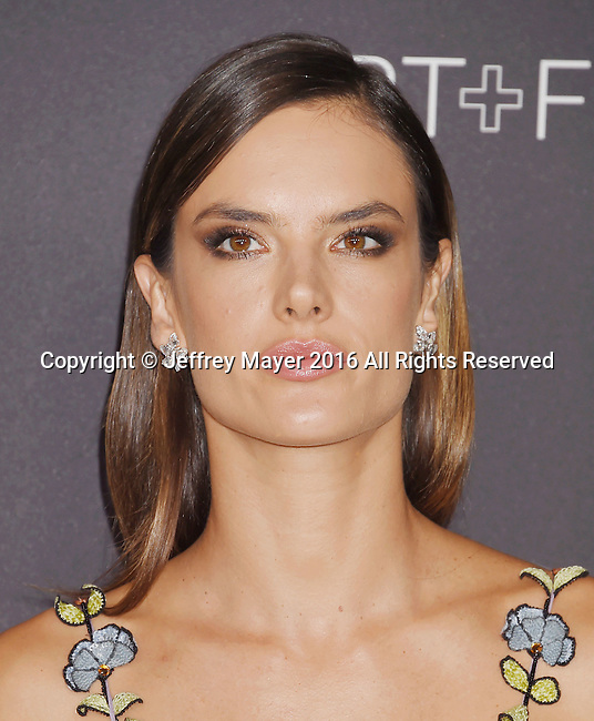 LOS ANGELES, CA - OCTOBER 29: Model Alessandra Ambrosio attends the 2016 LACMA Art + Film Gala honoring Robert Irwin and Kathryn Bigelow presented by Gucci at LACMA on October 29, 2016 in Los Angeles, California.