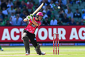 10th February 2019, Melbourne Cricket Ground, Melbourne, Australia; Australian Big Bash Cricket, Melbourne Stars versus Sydney Sixers;  Daniel Hughes of the Sydney Sixers hits the ball through the off side
