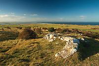 The East Lothian coastline and the Pentland Hills from Gullane Hill, Gullane, East Lothian