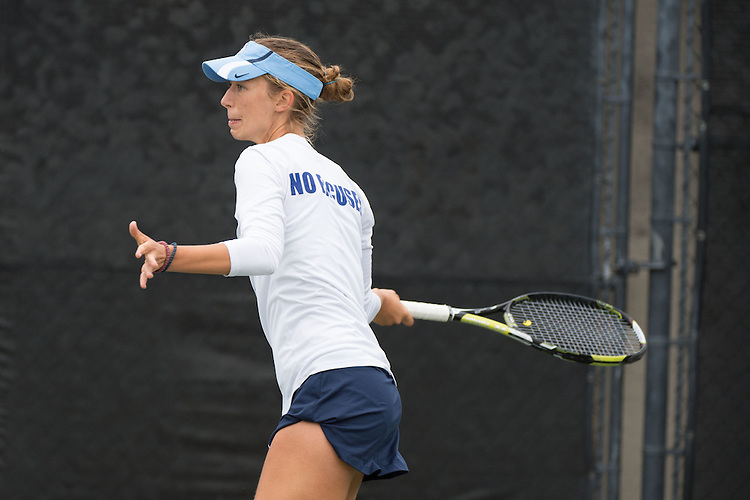 April 22, 2015; San Diego, CA, USA; San Diego Toreros tennis player Marta Stojanovic during the WCC Tennis Championships at Barnes Tennis Center.