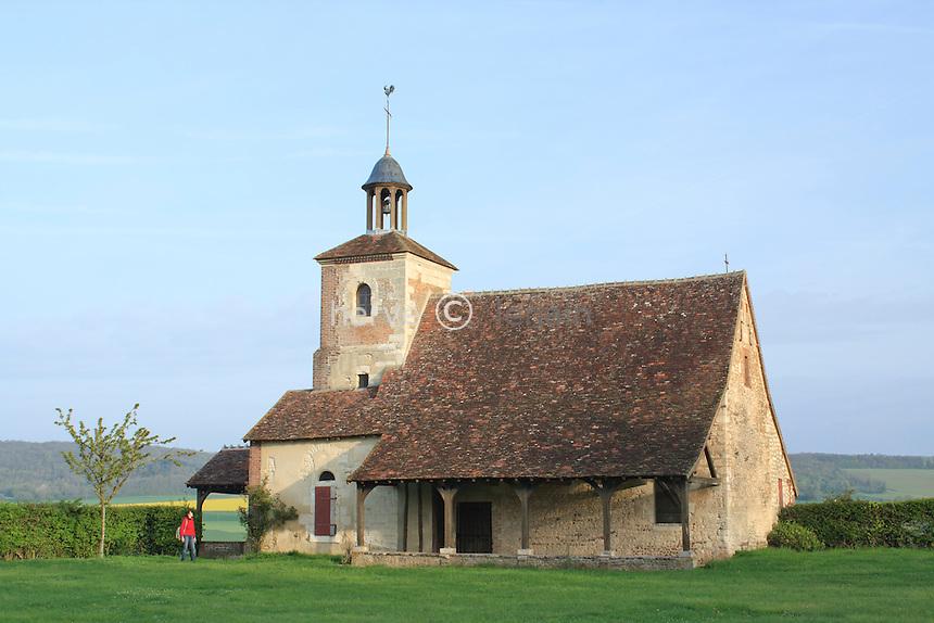 France, Yonne (89), Aillant-sur-Tholon, chapelle ermitage Sainte-Anne // France, Yonne (89), Aillant-sur-Tholon, Chapel hermitage Sainte-Anne