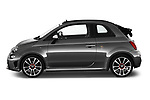 Car driver side profile view of a 2018 Abarth 595 Turismo Base 2 Door Convertible