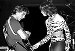 Pat Benatar and Neil Giraldo perform onstage at The Bottom Line in New York City in November, 1979