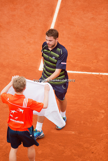01-06-12, France, Paris, Tennis, Roland Garros, Stanislas Wawrinka