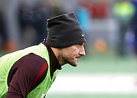 Calcio, Serie A: Roma vs Hellas Verona. Roma, stadio Olimpico, 17 gennaio 2016.<br /> Roma's Francesco Totti warms up during the Italian Serie A football match between Roma and Hellas Verona at Rome's Olympic stadium, 17 January 2016.<br /> UPDATE IMAGES PRESS/Isabella Bonotto