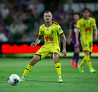 7th February 2020; HBF Park, Perth, Western Australia, Australia; A League Football, Perth Glory versus Wellington Phoenix; David Ball  of Wellington Phoenix passes the ball through midfield