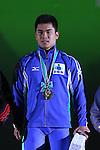 Yuta Kumakawa, <br /> MAY 22, 2016 - Weightlifting : <br /> All Japan Weightlifting Championship 2016 Men's -77kg <br /> Award Ceremony at Yamanashi Municipal Gymnasium, Yamanashi, Japan. <br /> (Photo by AFLO SPORT)