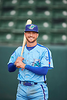 Sam McWilliams (5) of the Ogden Raptors before the game against the Orem Owlz at Lindquist Field on June 20, 2019 in Ogden, Utah. The Owlz defeated the Raptors 11-8. (Stephen Smith/Four Seam Images)
