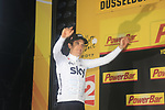 Geraint Thomas (WAL) Team Sky wins Stage 1, a 14km individual time trial around Dusseldorf, of the 104th edition of the Tour de France 2017, Dusseldorf, Germany. 1st July 2017.<br /> Picture: Eoin Clarke | Cyclefile<br /> <br /> <br /> All photos usage must carry mandatory copyright credit (&copy; Cyclefile | Eoin Clarke)