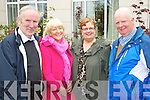 Pictured attending the Business briefing on the Stability Treaty in the Dromhall Hotel, Killarney, on Friday from left: Donie Lyne (Muckross), Mary O?Keeffe (Killarney), Sheila Casey (Killarney) and Denis O?Donoghue (Glenflesk)..