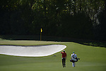 AUGUSTA, GA - APRIL 13: Marc Leishman of Australia walks up to the bunker during the Third Round of the 2013 Masters Golf Tournament at Augusta National Golf Club on April 13, 2013 in Augusta, Georgia. (Photo by Donald Miralle) *** Local Caption ***