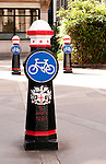 Bollards - Cycle path bollards, London, England, UK