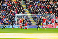 Leeds United's forward Samu Saiz (21) turns towards the away fans during the Sky Bet Championship match between Barnsley and Leeds United at Oakwell, Barnsley, England on 25 November 2017. Photo by Stephen Buckley / PRiME Media Images.