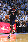 18 February 2017: Virginia's Marial Shayok (CAN). The University of North Carolina Tar Heels hosted the University of Virginia Cavaliers at the Dean E. Smith Center in Chapel Hill, North Carolina in a 2016-17 Division I Men's Basketball game. UNC won the game 65-41.