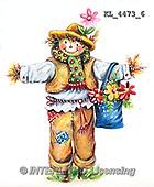 Interlitho, STILL LIFE STILLLEBEN, NATURALEZA MORTA, paintings+++++,KL4473/6,#i# stickers,halloween, scarecrow,