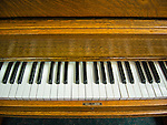 The Antique Gallery of Houston, TX. Old piano keyboard.
