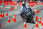 Loren Hilliard from Boise City Police Department maneuvers around cones during Legends of the West in Carson City, Nev., on Saturday June 22, 2013.<br /> (Photo by Kevin Clifford/Nevada Photo Source)