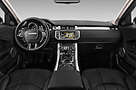 Stock photo of straight dashboard view of 2016 Land Rover Range Rover Evoque HSE 5 Door Suv Dashboard