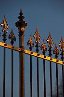 Europe/Autriche/Niederösterreich/Vienne: Détail des grilles du parc devant le Palais de La Hofburg - Centre Historique, Patrimoine mondial UNESCO