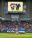 28.04.2019 Rangers v Aberdeen: Minutes applause at Ibrox for Billy McNeill
