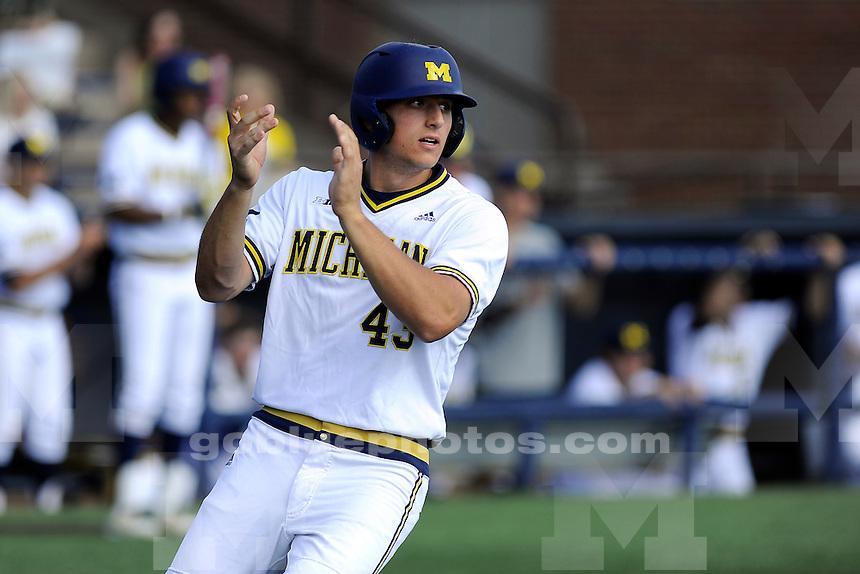 Iowa beats Michigan 13-7 in baseball, Friday, May 1, 2015, at UM's Ray Fisher Stadium in the Wilpon Baseball/Softball Complex.