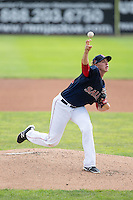 Salem Red Sox starting pitcher Michel Kopech (33) in action against the Lynchburg Hillcats at LewisGale Field at Salem Memorial Baseball Stadium on August 7, 2016 in Salem, Virginia.  The Red Sox defeated the Hillcats 11-2.  (Brian Westerholt/Four Seam Images)