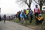 Riders at the top of the cobbled climb of Paterberg during the 56th edition of the E3 Harelbeke, Belgium, 22nd  March 2013 (Photo by Eoin Clarke 2013)