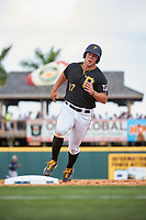 Pittsburgh Pirates MIchael Suchy (97) runs the bases during a Grapefruit League Spring Training game against the New York Yankees on March 6, 2017 at LECOM Park in Bradenton, Florida.  Pittsburgh defeated New York 13-1.  (Mike Janes/Four Seam Images)