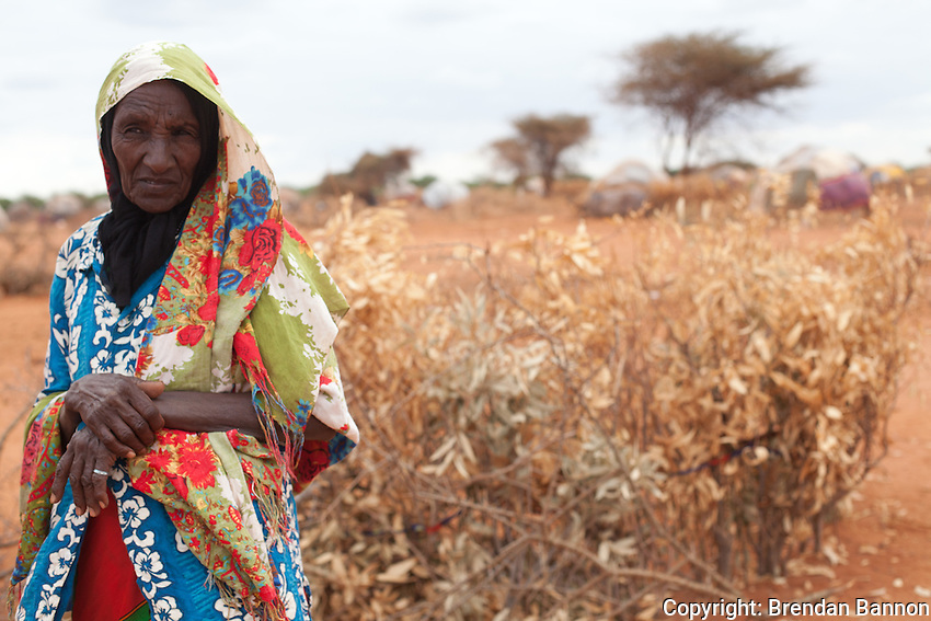 An elderly Somali refugee who arrived in May of 2011 to the outskirts of Ifo camp.