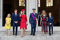 Royal Belgian family attends the Te Deum mass on National Day - Belgium