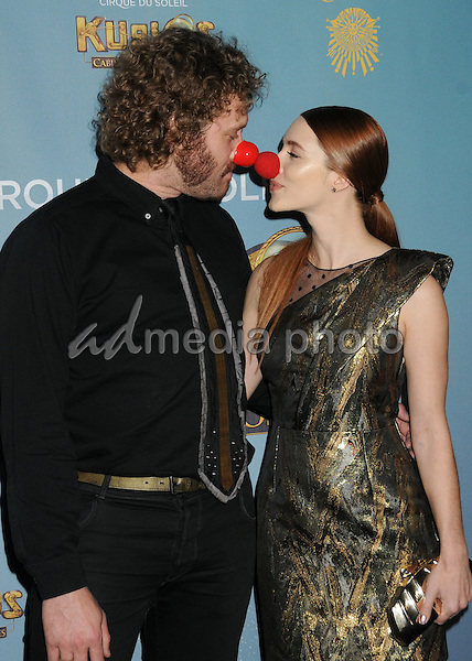 "9 December 2015 - Los Angeles, California - TJ Miller, Kate Miller. Opening Night of ""Kurios"" from Cirque du Soleil held at Dodgers Stadium. Photo Credit: Byron Purvis/AdMedia"