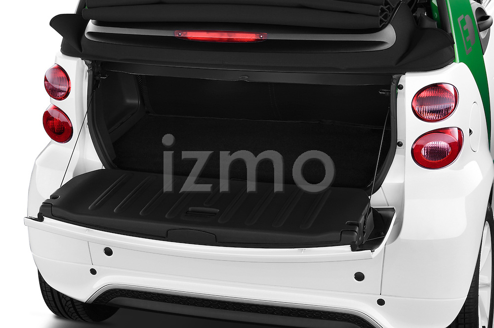 Car Stock 2013 Smart FOR TWO Electric Drive 2 Door Convertible Engine high angle detail view